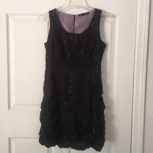 HeartSoul Black & Pink Lace Ruffle Dress New 7
